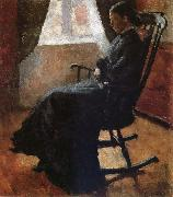 Karen auntie sitting a rocking chair