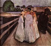 Edvard Munch Gentlewoman on the Bridge