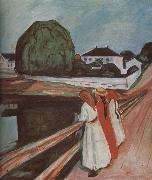 Edvard Munch The Children on the bridge