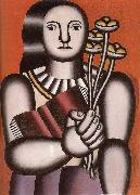 Fernard Leger The Woman hold flower