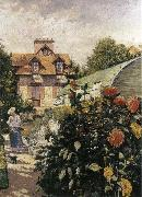 Gustave Caillebotte Big Chrysanthemum in the garden