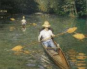 Gustave Caillebotte Racing boat oil painting reproduction