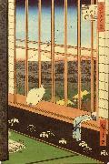 Hiroshige, Ando Cat at Window oil painting