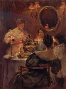 Irving R.Wiles Russian Tea oil painting