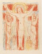 James Ensor Christ Crucified with Two Thieves oil painting