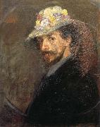 James Ensor Self-Portrait with Flowered Hat oil painting