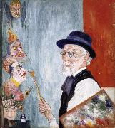 James Ensor My Portrait with Masks oil painting