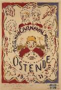 Poster for the Carnival at Ostend