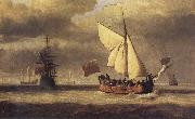 VELDE, Willem van de, the Younger The Yacht Royal Escape Close-hauled in a Breeze