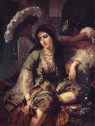 Ange Tissier Algerian Woman and her slave oil painting