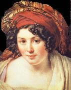 Head of Young Woman Wearing a Turban