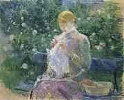 Pasie Sewing in the Garden at Bougival