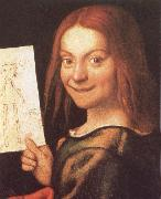 Red-Headed Youth Holding a Drawing