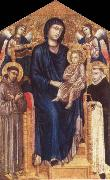 Madonna and Child Enthroned with Two Angels and Ss. Francis and Dominic