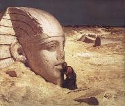 Elihu Vedder The Questioner of the Sphinx oil painting