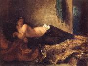 Odalisque Lying on a Couch
