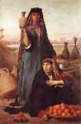 Felix-Auguste Clement Women Selling Water and Oranges on the Road to Heliopolis oil painting artist