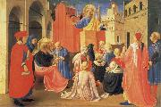 Fra Angelico The Hl. Petrus preaches oil painting reproduction