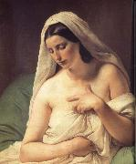 Francesco Hayez Odalisque oil painting reproduction