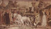 Francesco del Cossa The Triumph of Minerva March,From the Room of the Months oil painting