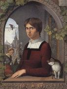 Friedrich overbeck Portrait of the Painter Franz Pforr oil painting