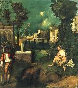 Giorgione The storm oil painting reproduction