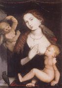 Hans Baldung Grien Virgin and Child with Parrots oil painting