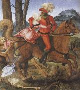 Hans Baldung Grien The Knight the Young Girl and Death oil painting