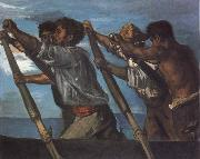 Hans von Maress Oarsmen.Study for a Fresco at the Zoological Station in Naples oil painting reproduction