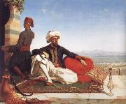 Hicks, Thomas Advocat Taylor with a View of Damascus oil painting