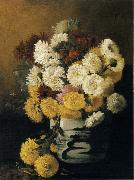 Hirst, Claude Raguet Chrysanthemums in a Canton Vase oil painting