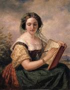 Huntington Daniel A Portrait of Mlle Rosina, A Jewess oil painting