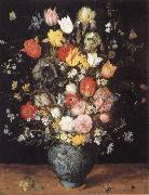 Jan Brueghel The Elder Flower in a blue vase