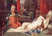 Jean Auguste Dominique Ingres Odalisque with a Slave oil painting reproduction