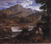 Joseph Anton Koch Waterfalls at Subliaco oil painting reproduction