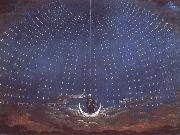 Karl friedrich schinkel In the palace of the Queen of the Night,decor for Mazart-s opera Die Zauberflote oil painting