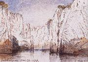 Lear, Edward The Rocks of the Narbada River at Bheraghat Jubbulpore oil painting