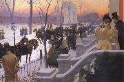 Lungren, Fernand Harvey A Winter Wedding oil painting
