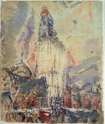 Marin, John Woolworth Building oil painting
