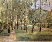 The Birch-Lined Avenue in the Wannsee Garden Facing West