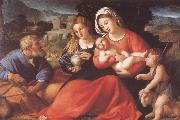 The Holy Family with Mary Magdalene and the Infant Saint John