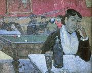 Dans  un cafe a Arles depicts the same cafe Van Gogh painted