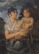 The Artist-s Wife and their Young Son