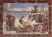 Pierre Puvis de Chavannes Marseilles,Gateway to the Orient oil painting artist