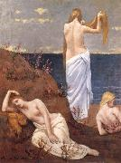 Pierre Puvis de Chavannes Young Girls by the Sea oil painting artist