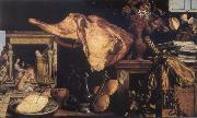 Vanitas still-life in the background Christ in the House of Mary and Martha