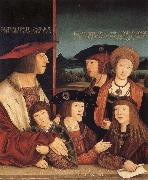 Emperor Maximilian I and his family