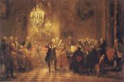 Adolf Friedrich Erdmann Menzel The Flute Concert of Frederick II at Sanssouci oil painting