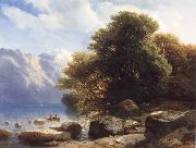 Alexandre Calame THe Lake of Thun oil painting artist
