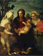 Madonna and child with Sts Catherine and Elizabeth,and St John the Baptist
